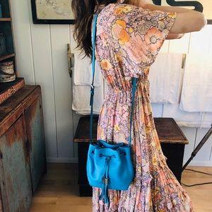 ♥️ Kate Spade ♥️ Turquoise Leather Crossbody Bag